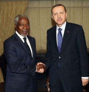 Başbakan, Annan ile görüştü