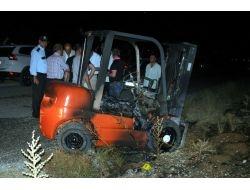 Çaldıkları Forklifti Yakan 2 Şüpheli Yakalandı