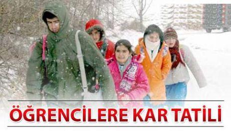 Kar Nedeniyle Çarşamba Günü Okullar Tatil Edildi.
